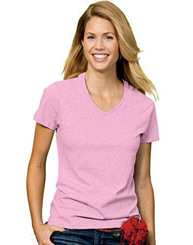 867b042796 Hanes Women s Relax Fit Jersey V-Neck Tee